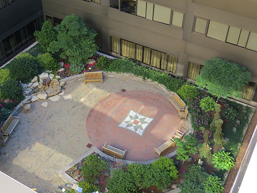 spectrum healing garden, plaza deck repair, plaza deck consultant, green roof consultant